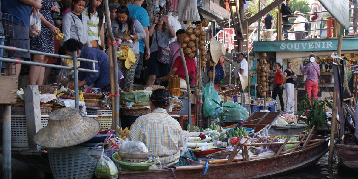 floating market und erawan falls