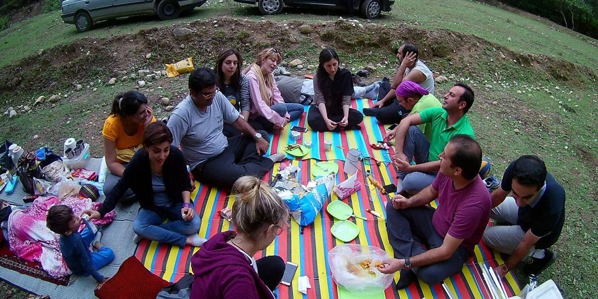 Ein Picknick im Iran.